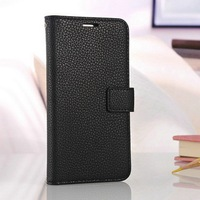Book wallet PU leather phone case for Samsung Galaxy S5 I9600 smart bumper with bill slots and photo frame