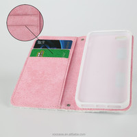 New Arrival Fabric Leather Phone Case for iPhone 5 with Card Holder