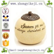 2015 chinese factory custom made handmade carved hot new products fashion resin candles gift