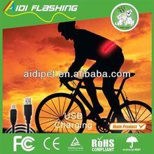 Night or dawn sports LED waist belt with different flashing modes / textured waist belt