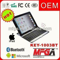 aluminum bluetooth keyboard case for ipad