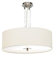11.15-4 Modern simplicity White Four Light Pendant Chandelier lends understated sophistication to your home
