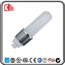 High quality amusement Aluminium body+PC cover 2pin led g24 light bulb