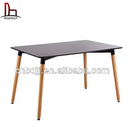 modern ikea style square wooden dining room table and chair set
