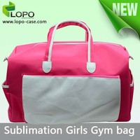 Fashionable sublimation women gym bag with big capacity