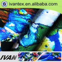 Hot sale cheap printed polyester spandex blend fdy digital print polyester spandex fabric