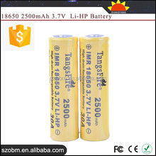 TangsFire IMR 18650 2500mAh High Drain Rechargeable Li-HP battery 3.7v