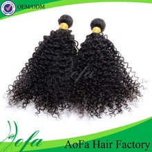 Virgin kinky curly hair wefts 6a malaysian remy kinky curly human hair weft