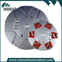 "8""/10"" Concrete Grinding Segment Diamond Magnetic Metal Plate"