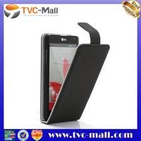 Vertical Gravel Texture Leather Flip Case Cover for LG Optimus G E973 E975
