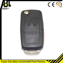 black ABLCS VW parts car key case for vw 3 buttons