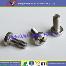 Your first choice! Delicate machine screws Nickle Plated Dual Full Cutting Thread Machine Screw for SS or iron