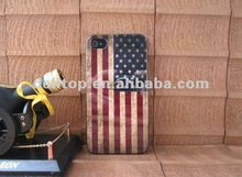 retro old USA United States America flag hard case back cover for iphone 4 4S 4G