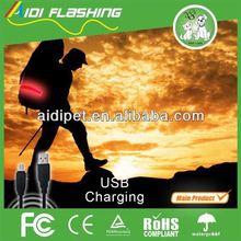 Night or dawn sports LED waist belt with different flashing modes / textured webbing waist belt