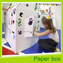 Miniature cardboard house paper house for kids