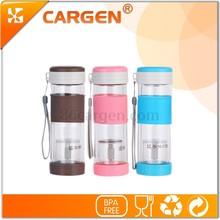 Special shape hot sale bpa free 280ml double wall glass water bottle