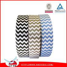 2015Multi colors chevron printed grosgrain ribbon