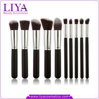 High quality 10pc kabuki wholesale make up cosmetic brush set