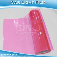 Hot Sale 0.3x10M Pink Car Light Vinyl Film