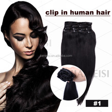 Beauty and processed 40 inch human hair extensions clips