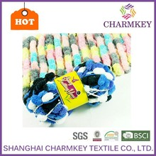 2015 Hot sale Top quality blue and white mixed color polyester cotton yarn for gloves