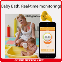 Smart sensor water and liquid food infrared thermometer working with mobile phone