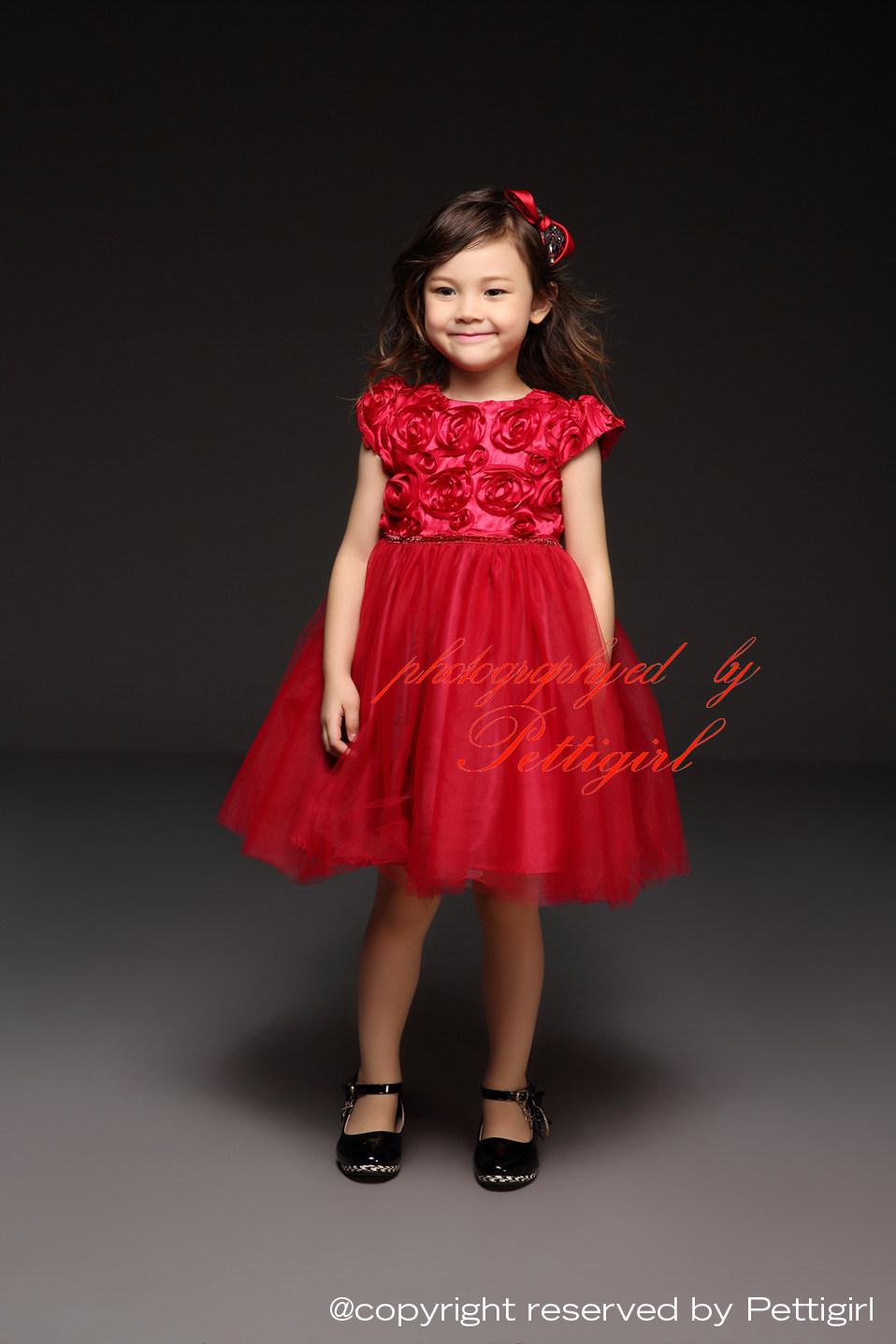 Robe de soiree rouge fille