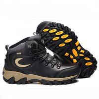 2015 New Genuine Leather Men boots Fashion Warm winter Hiking boots outdoor sport men shoes