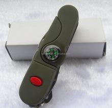 13-1 multifunction led compass folding knife