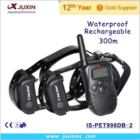 Electric Shock Device, Pet to Trainer, Dog Bark Collar for 2 dgs