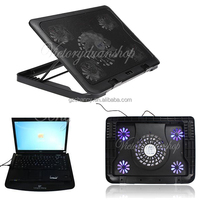 Brand 2014 New USB 5 Fans Blue LED Laptop Notebook 7 17 Cooling Fan Stand Cooler Pads