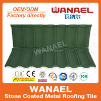 Classical Wanael factory sale low cost stone coat roof tile,no need roof tile paint