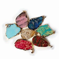 Wholesale Natural Gemstones Turkey Exaggerated Jewelry Charm Pendant Rough Stone