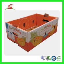 Q893 China Wholesale Fruit Orange Box, Printed Corrugated Apple Carton Box