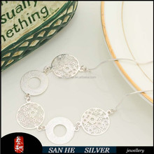 New Model With High Quality SILVER Letter Necklace