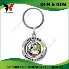 Cheap wholesale personalized letter keychain with synthetic stones