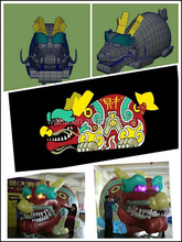 2015 new brand giant colorful inflatable dragon advertising 4m length