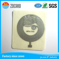 Logol printable Passive HF RFID Tag / clear nfc smart card
