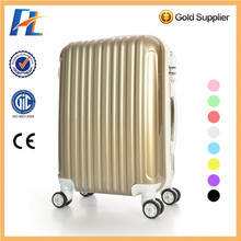 promotion waterproof gold pc travel luggage bag,pc luggage bags