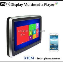 10.1 inch Airplay Miracast Capacitive Touch Screen car headrest monitor HD Multimedia(1080P) HDMI+IR+FM+SD+USB WS-X10M