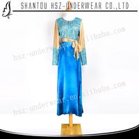 MD A002 High quality muslim cotton baju kurung Wholesale muslim women long sleeve baju kurung satin baju kurung indonesia