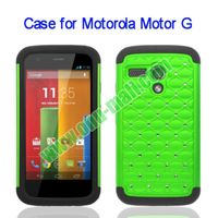 New Arrival Factory Price 2-in-1 Silicon + PC Protective hard case for motorola moto g