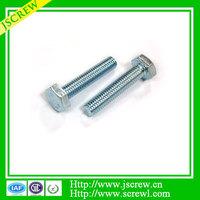 DIN931 Galvanized Hex Head screw bolt, M6 Allen bolt