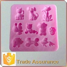 3D animal silicone chocolate molds
