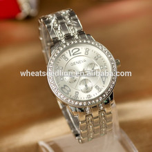 china supplier shop gold plated crystal decorative oem/odm stainless steel men watches