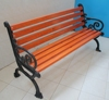 Waterproof factory low cost selling cast iron wooden bathroom bench