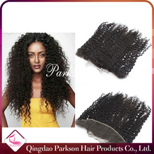 Lace Frontal Hair Piece Closure 13x4inch 100 Brazilian Virgin Hair Deep Curly Lace Frontals Natural color 120%