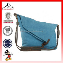Unisex canvas cross body handbag purse messenger shoulder satchel bag school bags New design school bag(ES-H143)