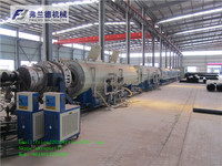 Plastic tube extruder machine,PE Water gas Supply Pipe Extrusion Line