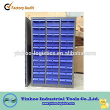 Office steel filing cabinet with 30 plastic drawers